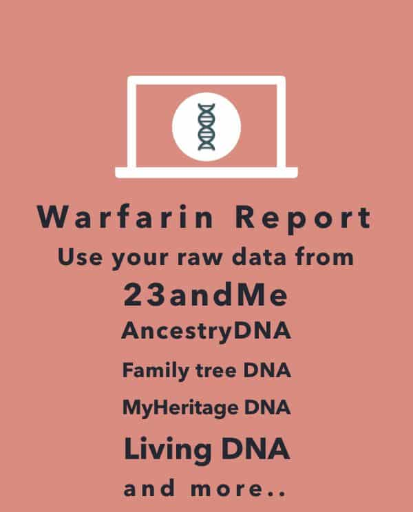 23andme warfarin metabolism analysis